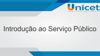 Introdução ao Serviço Público